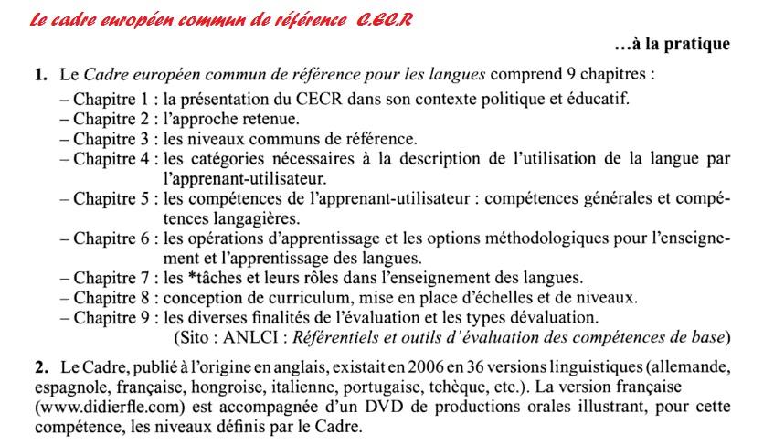 dictionnaire pratique de didactique du fleLe cadre européen commun de référence  1